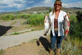 Betty fishing at Wildhorse